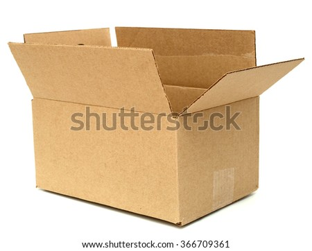 Cardboard box. Front View