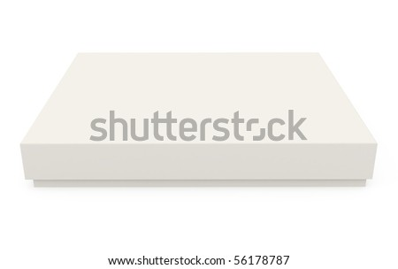 Cardboard Box isolated on white - 3d illustration - stock photo