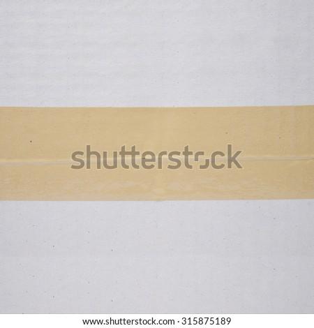 cardboard box tape texture background - stock photo