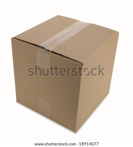 cardboard box with clipping path