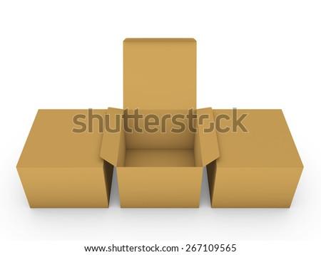 Cardboard boxes - stock photo