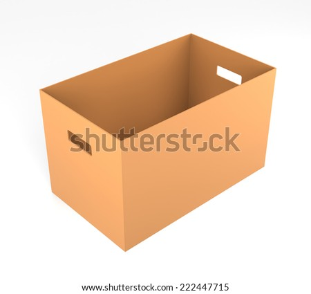Cardboard Boxes. 3D Rendering - stock photo