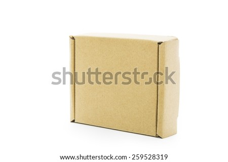 Cardboard brown box isolate on over white background