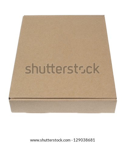 Cardboard carton box isolation on white background