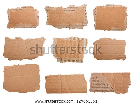 Cardboard collection isolated on white