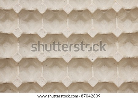 Cardboard containers for eggs,carton of eggs - stock photo