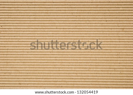 cardboard corrugated pattern background, horizontal - stock photo