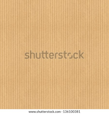 Cardboard corrugated texture. Tileable seamless pattern - stock photo