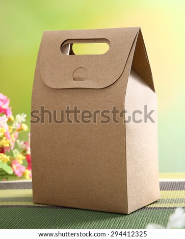 Cardboard Fast Food Box - stock photo
