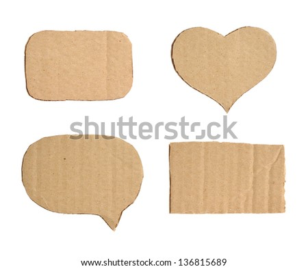 Cardboard Forms - stock photo