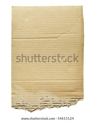 Cardboard isolated on white - stock photo