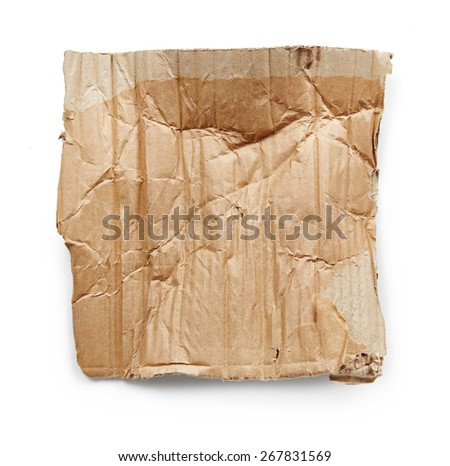Cardboard isolated on white background