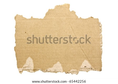 cardboard on white background - stock photo