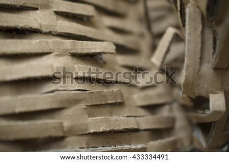 cardboard packing material - stock photo