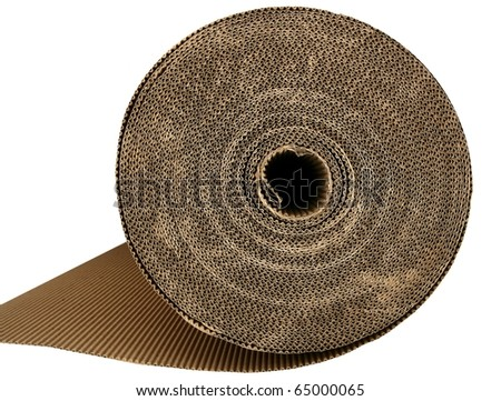cardboard packing texture carton in brown color - stock photo