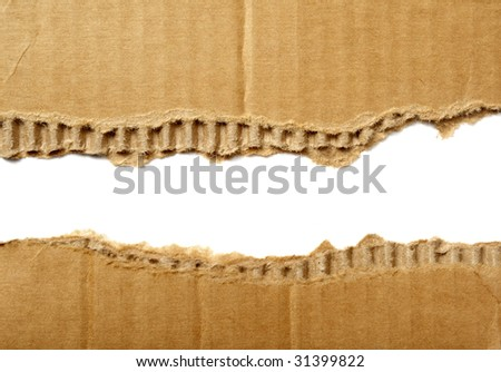 cardboard paper edges and background - stock photo