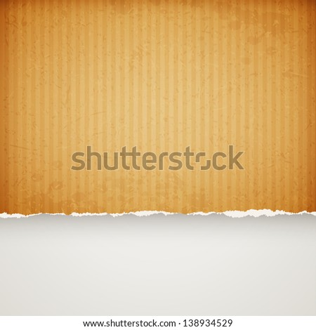 cardboard paper frame with torn edges. Raster copy of vector illustration - stock photo