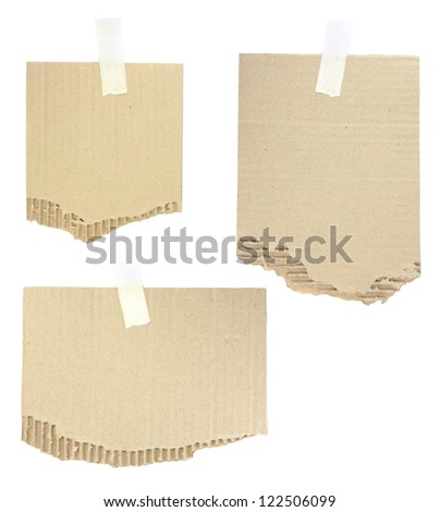 cardboard pieces attached with a sticky tape