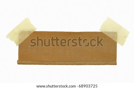 cardboard roll scrap and masking tape isolated on white  background - stock photo