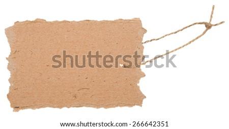 Cardboard tag - stock photo