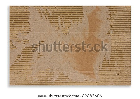Cardboard with torn edges texture isolate on white background - stock photo