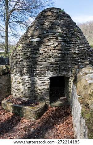 CARDIFF/UK - APRIL 19 : Circular Pigsty at St Fagans National History Museum in Cardiff on April 19, 2015