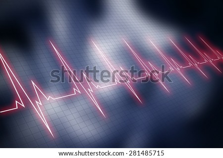 Cardiogram background. - stock photo