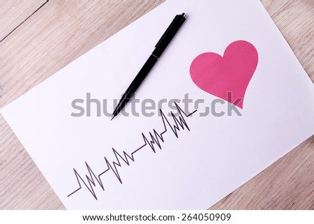 Cardiogram. ECG shows the heart beat - stock photo