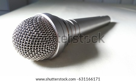 cardioid microphone isolated for talented singer