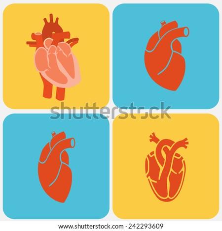 Cardiology. Heart doctor Illustration icon - stock photo