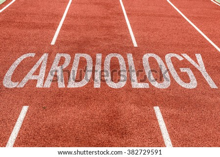 Cardiology written on running track