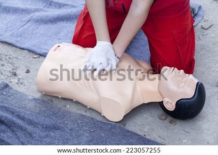 Cardiopulmonary resuscitation - stock photo