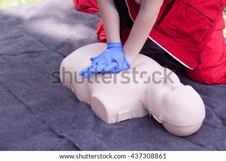 Cardiopulmonary resuscitation - CPR - stock photo