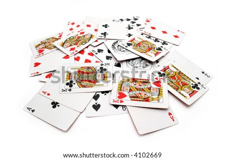 cards and games - stock photo