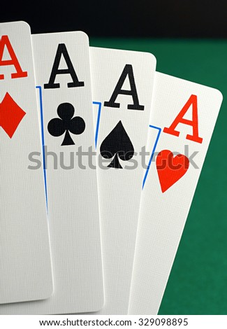 cards for poker - stock photo