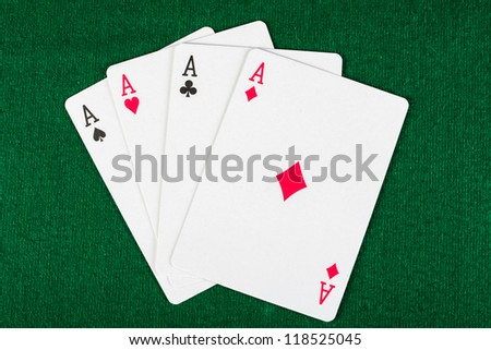 cards for the poker on the table - stock photo
