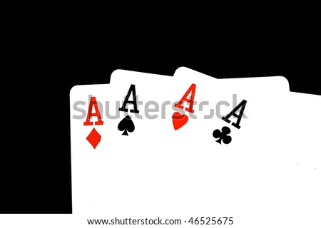 cards four cards aces