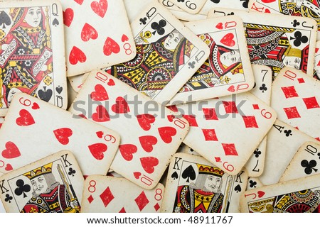 Cards gambling leisure poker game ace background - stock photo