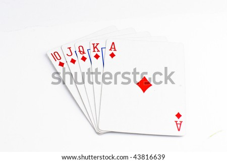 Cards isolated on a white background