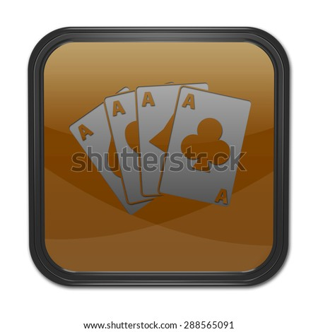 Cards square icon on white background