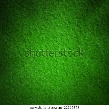 Whole background green velvet background pool or poker table texture
