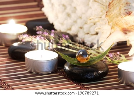 Care and aroma therapy spa - stock photo
