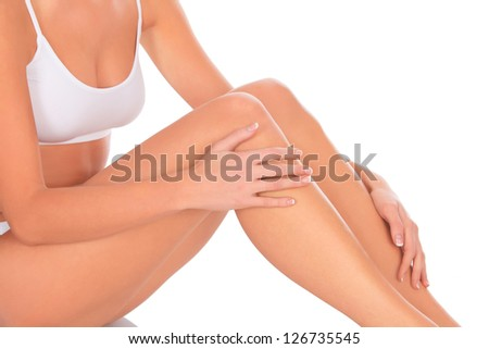 care for beautiful woman body - stock photo