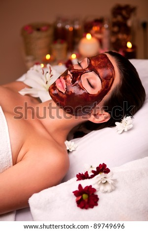 care for face and body spa - stock photo