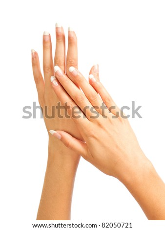 Care for the women's hands - stock photo