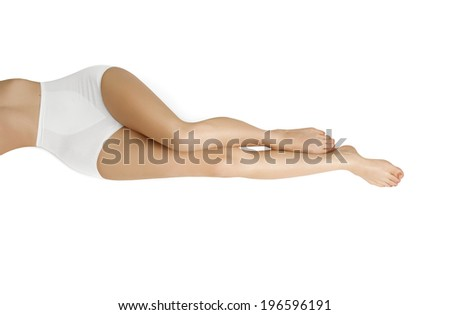 Care for women legs - stock photo