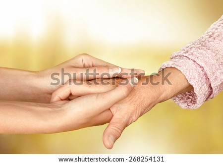 Care, home, hand. - stock photo