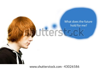 Career ambitions/future choices concept - stock photo