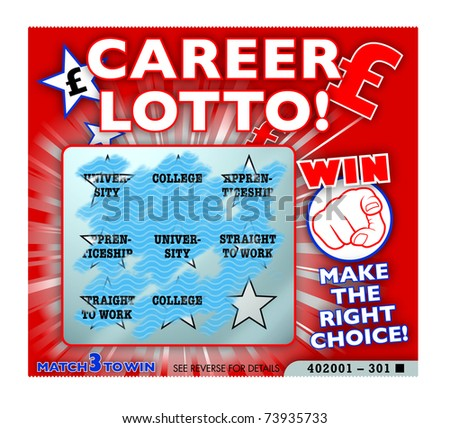 Career and further education choices lottery gamble - stock photo