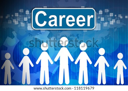 Career ,Business concept in word Human resources